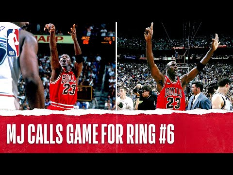"""Michael Jordan Clinches 6th Title With """"The Shot"""" 