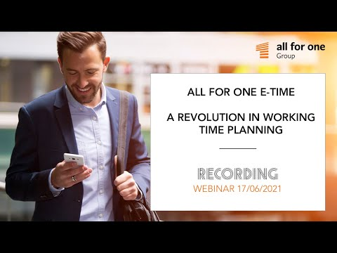 SNP E-Time. A revolution in working time planning