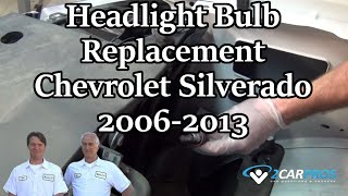 Headlight Bulb Replace Chevy Silverado 06-13