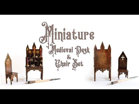 ⚜Miniature Medieval Writing Desk⚜