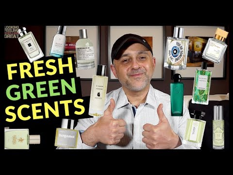 Top 20 Fresh Green Fragrances 💚💚💚