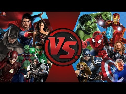 JUSTICE LEAGUE vs AVENGERS! TOTAL WAR! (DC vs Marvel) Cartoon Fight Club Episode 130