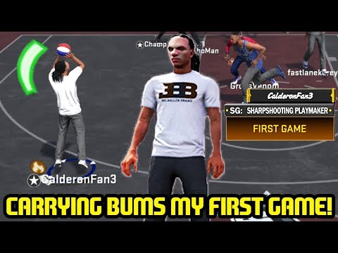 Download FIRST PARK GAMES! CARRYING BUMS GREENING 3'S! NBA 2K18 PARK