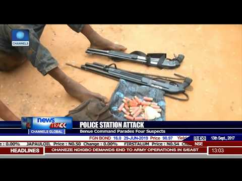 Benue Command Parades Four Suspects For Attack On Police Station