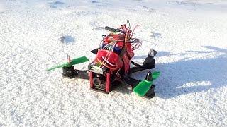 Diatone 150 FPV, обзор деталей, тестовый полет квадрокоптера с камерой PZ-2 ( Reptile ) с записью