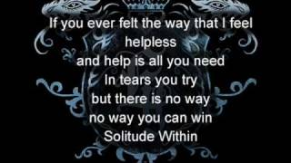 Evergrey - Solitude within with lyrics