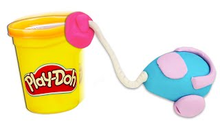 Valerias Play-Doh Atelier. Wir machen einen Staubsauger. Knete Video für Kinder