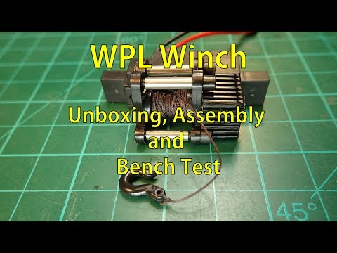 WPL winch - unboxing, assembly, bench test