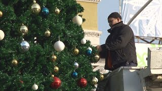 В Ставрополе начали снимать Новогодние украшения