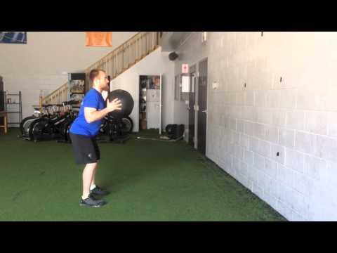 Standing Medicine Ball Chest Pass - Viking Strength Systems