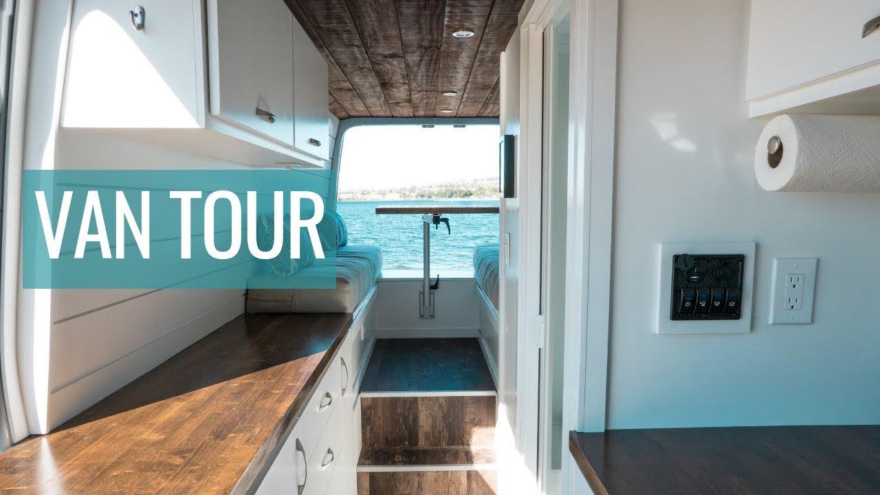 VAN TOUR | Sprinter Van Conversion with Bathroom & Mini Garage