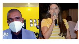 Prefeito Gilvan diz que encontrou o município sucateado e inadimplente; Ex-prefeita Mayra diz o contrário