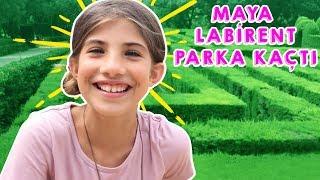 Maya Evden Kaçıp Yalnız Labirent Parka Gitti | Bizim Aile