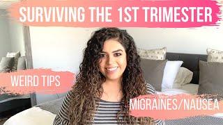 Pregnancy 1st Trimester WEIRD TIPS - Symptoms & Recap - Get Rid of MIGRAINES HEADACHES NAUSEA