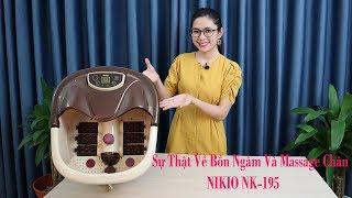 Bồn ngâm và massage chân Nhật Bản Nikio NK-195 - Tự đun nóng nước