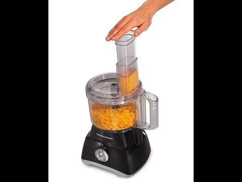 , Hamilton Beach 70740 8-Cup Food Processor, Black