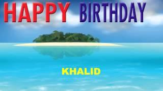Khalid - Card Tarjeta_598 - Happy Birthday