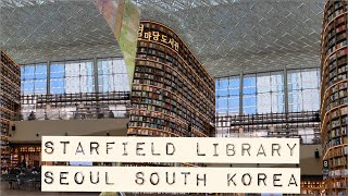 Starfield Library Seoul South Korea inside view June 2020