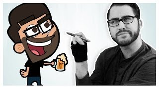 Drawing Myself in 5 Animated Styles
