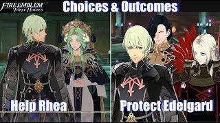FE3H Protect Edelgard vs Help Rhea Outcomes - Fire Emblem Three Houses