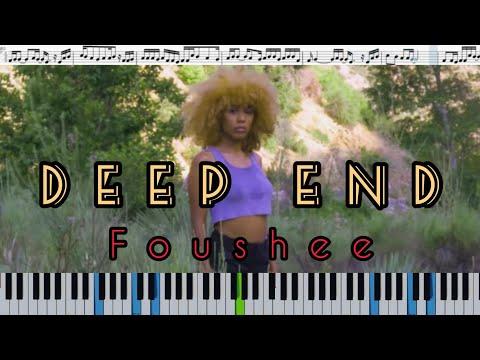 Fousheé - Deep End (кавер на пианино + ноты)