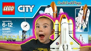 Playing Legos: Lego City Spaceport Toy Set - Space Shuttle, Launch Pad, Crawler
