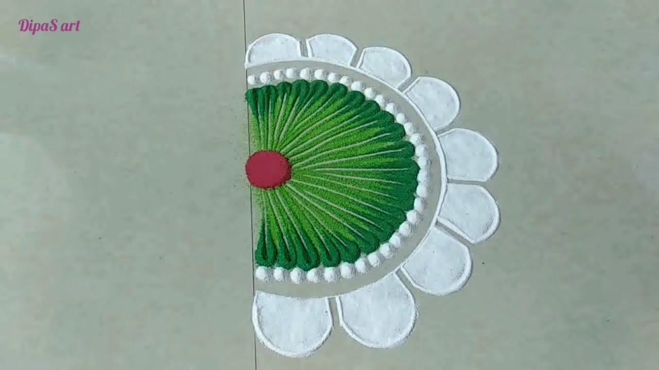 latest diwali rangoli design by dipas art