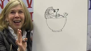 How To Draw The Hedgehog From Jan Bretts THE SNOWY NAP