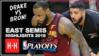 LeBron James Full Series Highlights vs Toronto Raptors 2018 Playoffs ESCF - LeBronto vs Drake!