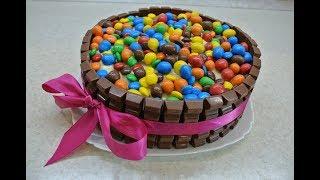 ТОРТ из M&M's и KitKat! Торт на детский праздник своими руками- гости будут в восторге