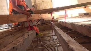 Замена деревянных перекрытий, Лиссабон, Португалия,  Brigada1.lv