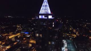 Drone flight over Downtown Raleigh in 4k