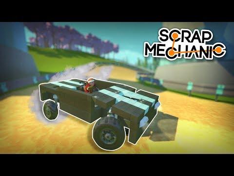 Drift Racing with Custom Drift Wheels! - Scrap Mechanic Multiplayer Monday