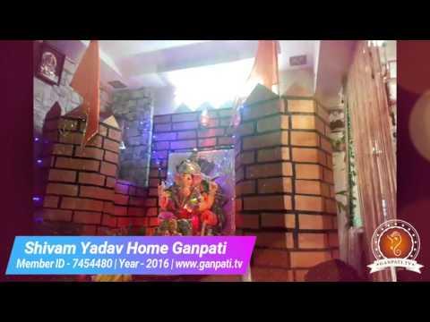 Shivam Yadav Home Ganpati Decoration Video