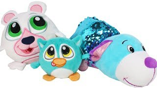 Crunchimals and Sequin Flip a Zoo Plush Toy Review