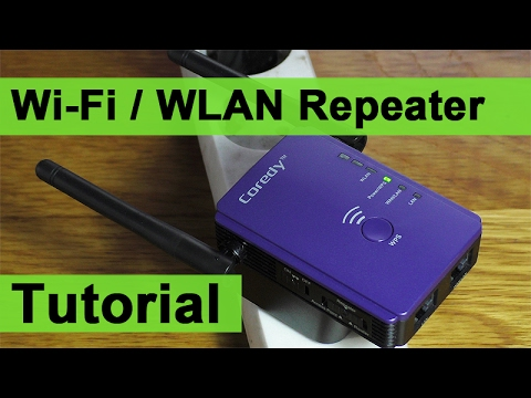 Wi-Fi / WLAN Repeater einrichten Tutorial - Coredy E300 [DEUTSCH]