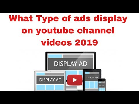 What Type of Earning ads display on youtube channel videos 2019