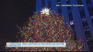 Rockefeller Center Christmas tree lighting ceremony celebrates holiday season