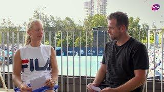 WTA Timeout: Coach's Q&A with Kiki Bertens and Raemon Sluiter