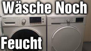 Trockner Trocknet die Wäsche nicht ganz fertig Beendet denn trockenvorgan zu früh
