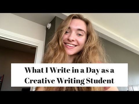 What I Write in a Day as a Creative Writing Student // Writing Vlog