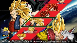 Dragon Ball GT Shin Budokai 2 psp MOD/Carver el Br