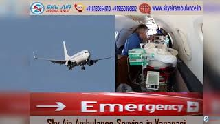 Pick Sky Air Ambulance in Bhopal with all Medical Features