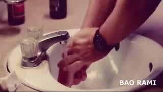 sad english man washing hand status