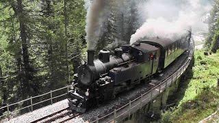 Furka Pass Cogwheel Steam Railway Switzerland July 2011.