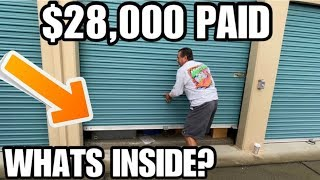 $28,000 PAID WHATS INSIDE ? 12 years of dust! I bought an abandoned storage unit ~ storage wars