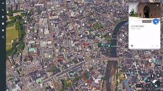 グーグルアース「石川県」観光スポット