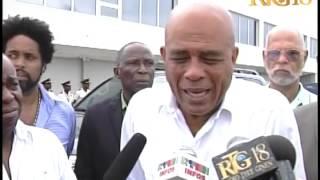 Prezidan Martelly - Vizit Aéroport