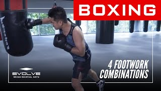 Boxing | 4 Footwork Combinations | Evolve University