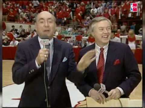 Dickie V is calling an NBA game.  Awesome Baby!